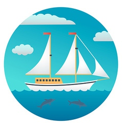 Yacht Detailed vector image vector image