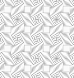 Slim gray hatched wavy pedals vector