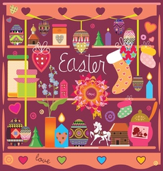 Selection of design elements of an easter subject vector