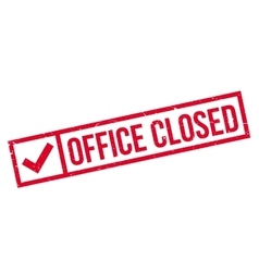 Office closed rubber stamp vector