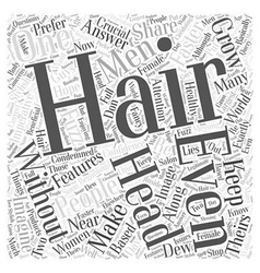 Make your hair grow faster word cloud concept vector