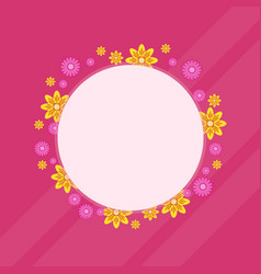 Spring flower wreath frame collection vector