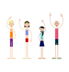 set of young people vector image