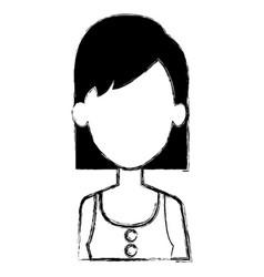 Beautiful woman avatar character vector