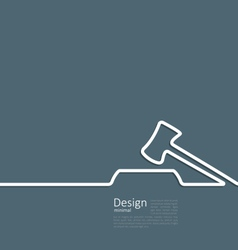 Icon of hammer judge template corporate style logo vector