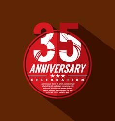 35 years anniversary celebration design vector