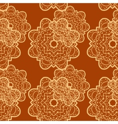 Seamless outlined mandala flower like background vector