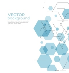 Abstract background with hexagons vector
