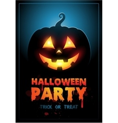 Halloween party design template with pumpkin and vector