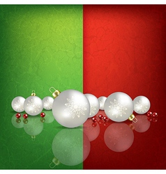 Celebration greeting with white christmas vector