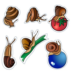 six slugs vector image