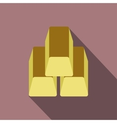 Gold bars flat icon vector