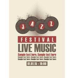 Musical poster depicting jazz festival vector