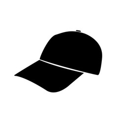 Baseball cap black color icon vector
