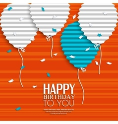 Birthday wish with balloons in the style of flat vector