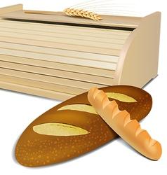 Bread container vector
