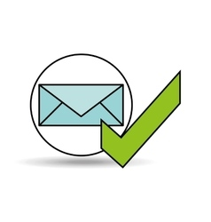 check mark email design vector image