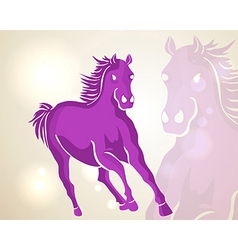 Chinese new year 2014 running horse vector