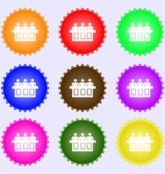 Conference icon sign big set of colorful diverse vector