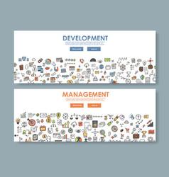 Doodle design style concept banner development vector