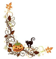 Halloween border vector