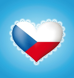 Heart shape Czech flag vector image