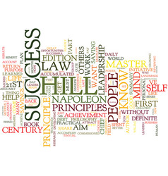 Law of success part i text background word cloud vector