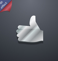 Like thumb up icon symbol 3d style trendy modern vector