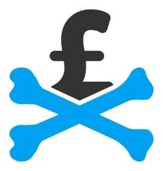 Mortal pound debt flat icon symbol vector