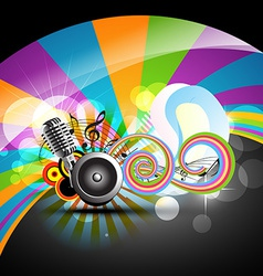 music theme design vector image vector image