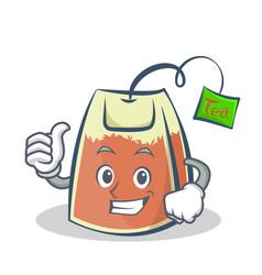Proud tea bag character cartoon vector