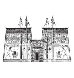 Pylon of the temple of edfu architecture vintage vector