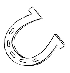 Single horseshoe icon image vector