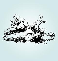 triathlon vector image vector image