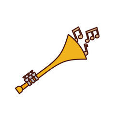 Trumpet notes wind musical instrument horn vector