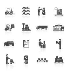 Warehouse Icons Set vector image vector image