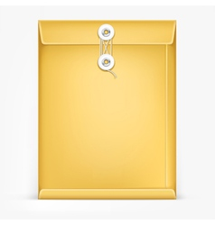 Brown envelope with white rope vector