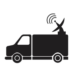News van with antenna information communication vector