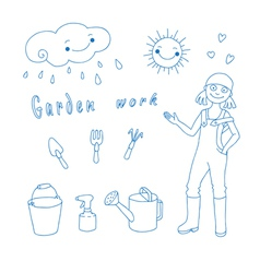 Garden work vector image