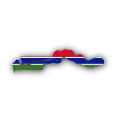 map and flag of the gambia vector image