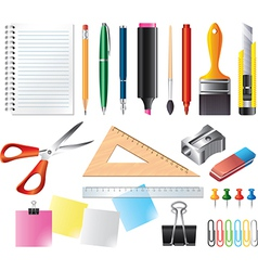 drawing office set vector image
