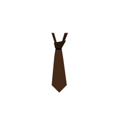 Isolated style flat icon tie element can vector