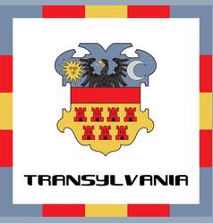Official government ensigns of transylvania vector