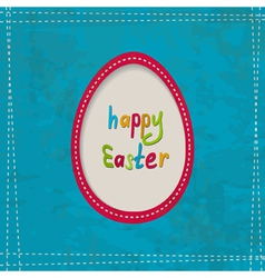 Blue greeting card with an egg frame vector