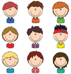 Boys avatar vector