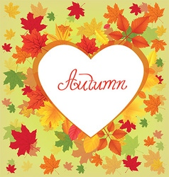 Autumn leaves border design vector