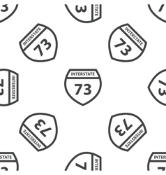Interstate 73 pattern vector