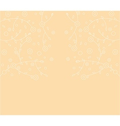 Abstract floral line background vector image