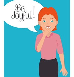 Joyful people design vector