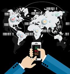 Modern communication technology mobile phone vector